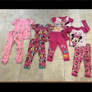 Lot of 4 Minnie Disney Candy pajama sets